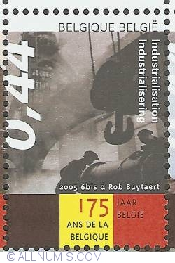 Image #1 of 0,44 Euro 2005 - 175th Anniversary of Belgium - Industrialisation