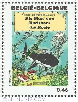 Image #1 of 0,46 Euro 2007 - Red Rackham's Treasure (Afrikaans)