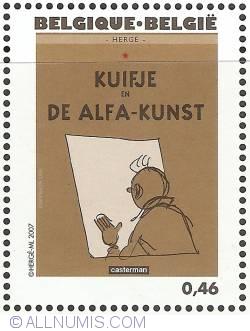 Image #1 of 0,46 Euro 2007 - Tintin and Alph-Art (Dutch)