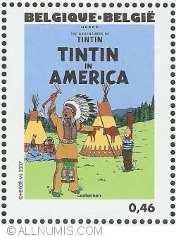 Image #1 of 0,46 Euro 2007 - Tintin in America (English)