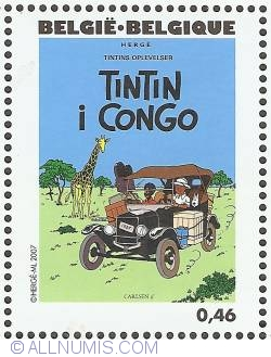Image #1 of 0,46 Euro 2007 - Tintin in Congo (Danish)