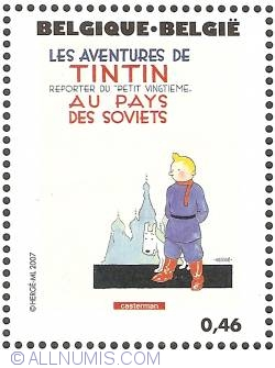 Image #1 of 0,46 Euro 2007 - Tintin in the Land of the Soviets (French)