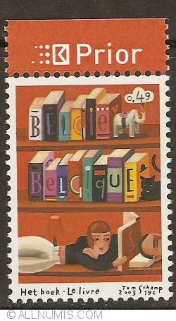 Image #1 of 0,49 Euro 2003 - Books - Reading (with prior-tab)