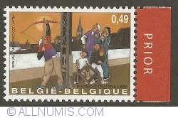 Image #1 of 0,49 Euro 2003 (with prior tab) - Archery - Popinjay