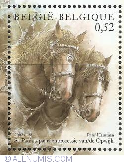 Image #1 of 0,52 Euro 2002 - St. Paul's Horse procession of Opwijk