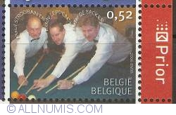 Image #1 of 0,52 Euro 2006 - Belgian Billiard Champions - Paul Stroobants - Eddy Leppens - Peter De Backer