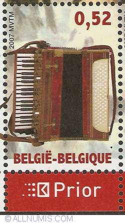 Image #1 of 0,52 Euro 2007 - Chromatic accordion of Vladikazav, Nord Ossetia