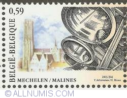 Image #1 of 0,59 Euro 2003 - Carillon of St. Rombouts Cathedral - Mechelen