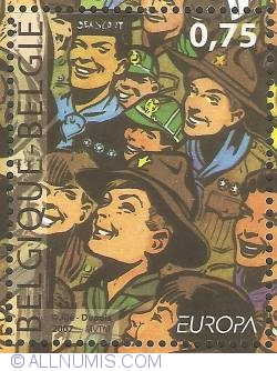 Image #1 of 0,75 Euro 2007 - Centennial of Scouting