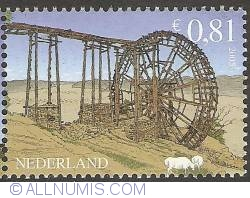Imaginea #1 a 0,81 Euro 2005 - Watermanagement - Chinese Water Wheel