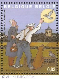Image #1 of 0,82 Euro 2003 - Folk sports - Pigeon racing