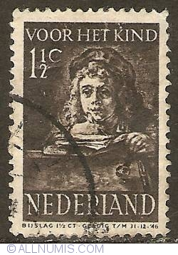 Image #1 of 1 1/2 + 1 1/2 Cent 1941 - Rembrandt's son Titus
