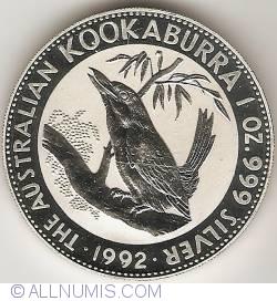 Image #2 of 1 Dollar 1992 - Kookaburra