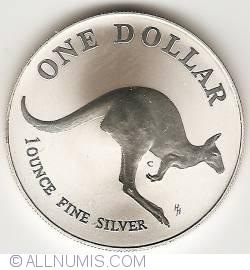 Image #2 of 1 Dollar 1993 - Kangaroo