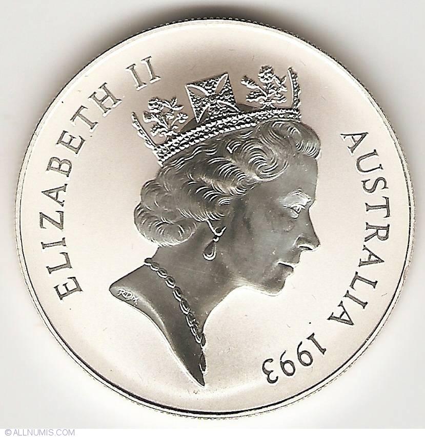 1 Dollar 1993 Kangaroo Queen Elizabeth Ii Australia