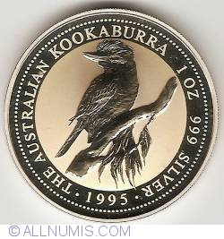 Image #2 of 1 Dollar 1995 - Kookaburra