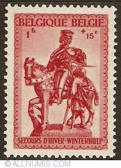 Image #1 of 1 Franc + 15 Centimes 1941 - Winter Help - St. Martin