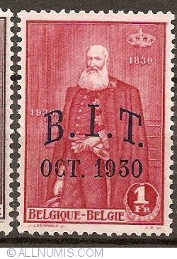 Image #1 of 1 Franc 1930 - Centenary of Belgium with overprint B.I.T.