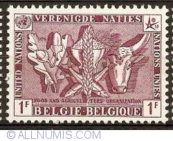 Image #1 of 1 Franc 1958 - UNO - Food and Agriculture Organisation