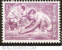 Image #1 of 1 Franc 1960 - Congo independence - Reforestation