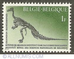 Imaginea #1 a 1 Franc 1966 - Royal Belgian Institute of Natural Sciences - Iguanodon bernissartentis
