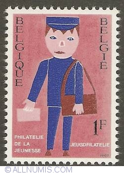 Image #1 of 1 Franc 1969 - Youth Filately - Postman