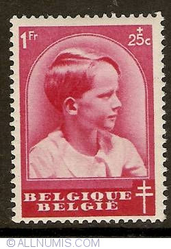 Image #1 of 1 Franc + 25 Centimes 1936 - Prince Baudouin