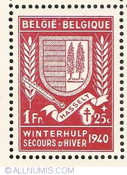 Image #1 of 1 Franc + 25 Centimes 1941 - Hasselt