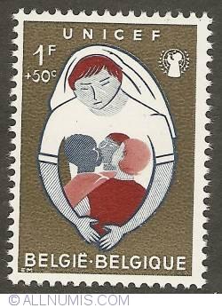 Image #1 of 1 Franc + 50 Centimes 1960 - UNICEF