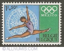 1 Franc + 50 Centimes 1968 - Gymnastics
