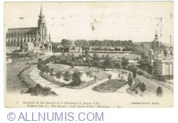 """Image #1 of Rouen - General View of """"Bon Secours"""" and Jeanne d'Arcs Monument (1919)"""