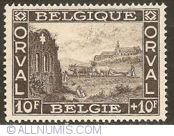 Image #1 of 10 + 10 Francs 1928 - Orval Abbey - Ruins of the Old Abbey