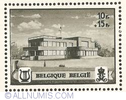 Image #1 of 10 + 15 Francs 1941 - Queen Elisabeth Music Chapel - perforated