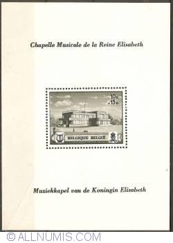 Image #1 of 10 + 15 Francs 1941 - Queen Elisabeth Music Chapel Souvenir Sheet - perforated