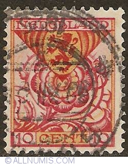 Image #1 of 10 + 2 1/2 Cent 1925 - Shield of South-Holland with rose