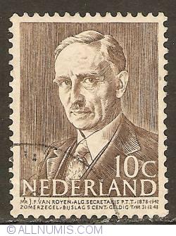 Image #1 of 10 + 5 Cent 1947 - J.F. van Royen