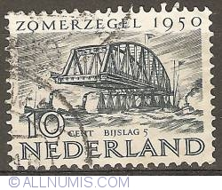 10 + 5 Cent 1950 - Bridge Reconstruction Keizersveer