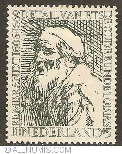 Image #1 of 10 + 5 Cent 1956 - Rembrandt - Old, blind Tobias