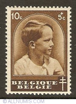 Image #1 of 10 + 5 Centimes 1936 - Prince Baudouin