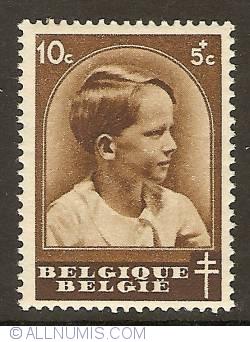 Imaginea #1 a 10 + 5 Centimes 1936 - Prince Baudouin