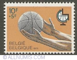 Image #1 of 10 + 5 Francs 1973 - 1st World Championships Baketball for the Handicapped