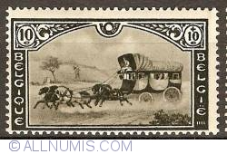 Image #1 of 10 + 10 Centimes 1935 - Post Carriage