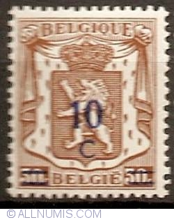 Image #1 of 10 Centimes  over 30 Centimes 1942 overprint
