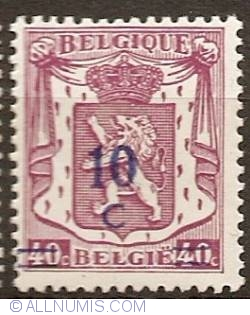 Image #1 of 10 Centimes  over 40 Centimes 1941 overprint