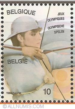 Image #1 of 10 Francs 1984 - Olympic Games Los Angeles - Archery