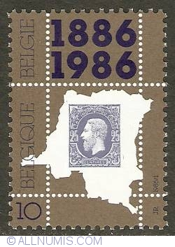Image #1 of 10 Francs 1986 - Centenary of the First Stamp for Congo