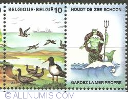 Image #1 of 10 Francs 1988 - Sea Birds with Tab Neptunus