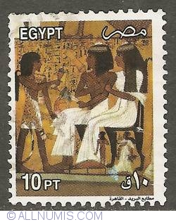 Imaginea #1 a 10 Piastres 2002 - Scene from the XXth Dynasty