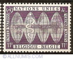 Image #1 of 11 Francs 1958 - UNO - World Health Organisation