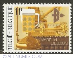 Image #1 of 11 Francs 1984 - Agro-industry